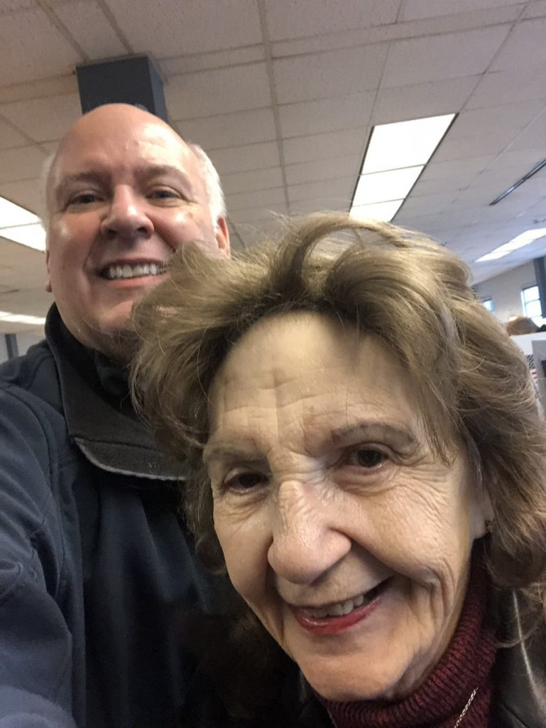 Mike Skindell and mother at the Cuyahoga County Board of Elections